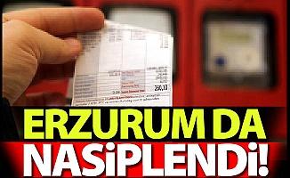 O faturalardan Erzurum da nasiplendi!