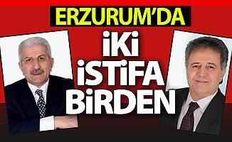 Erzurum'da iki istifa birden!