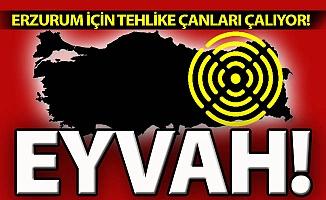 Erzurum'da tehlike çanları çalıyor!