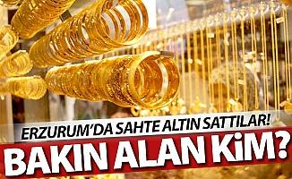Erzurum'ta sahte altın operasyonu!