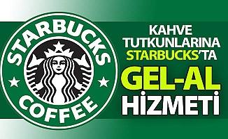 """Starbucks'ta """"GEL-AL"""" hizmeti..."""