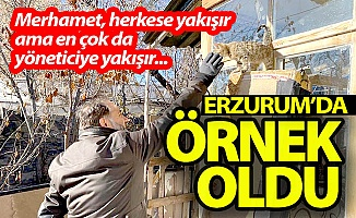 Erzurum'da işte böyle örnek oldu