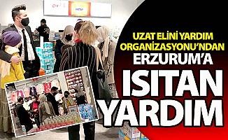 Yardım elleri Erzurum'a uzandı...