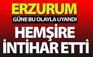 Erzurum'da şok intihar!