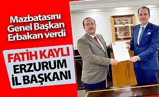 Erzurum İl Başkanı Fatih Kaylı oldu