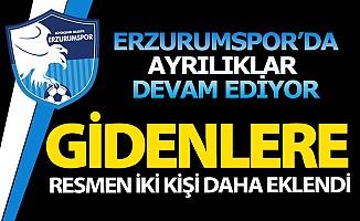 Erzurumspor'da bir yol ayrılığı daha!