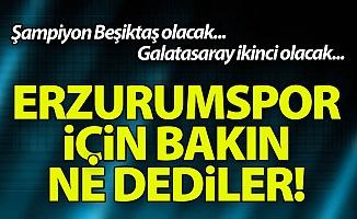 Erzurumspor ligi nerede tamamlayacak?