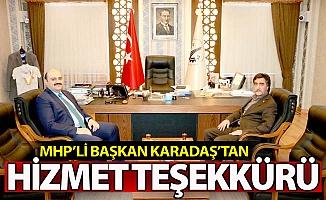 MHP'li Karadaş'tan hizmet teşekkürü