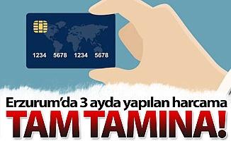 Erzurum'da üç ayda bakın ne kadar harcadık!