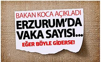 Erzurum'da vaka sayısı...