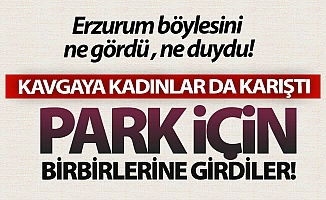Erzurum'da park kavgası!