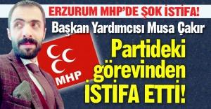 Erzurum MHP'de şok istifa!