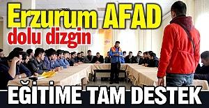 AFAD'dan eğitime tam destek