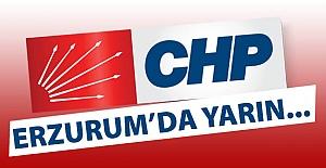 Erzurum CHP'de yarın...