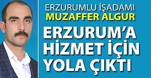 Erzurum'a hizmet için yola çıktı