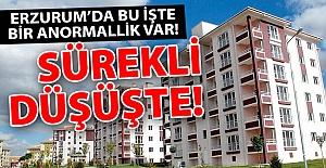 Erzurum'da sürekli düşüşte!..