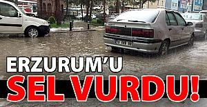 Erzurum'u sel vurdu!..