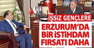 Erzurum'da işsizlere istihdam fırsatı