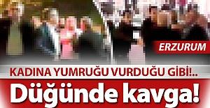 Erzurum'da düğün kavgası!