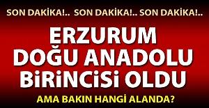 Bölge birincisi Erzurum oldu!..
