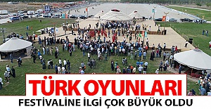 Türk Oyunları Festivali'ne yoğun ilgi