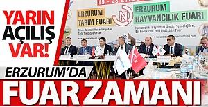 Erzurum'da fuar zamanı!..