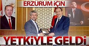 Erzurum için yetkiyle geldi!..