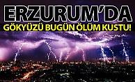 Erzurum#039;da gökyüzü ölüm kustu!