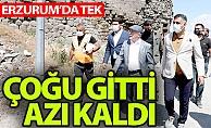 Erzurum'da çoğu gitti, azı kaldı...
